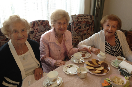 Pictured L to R Renee Brompton, Betty Edwards and Lilly Hardy