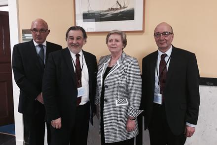 Dr. Andrew Woolfe, Mr Maurice Cohen, Minister Francis Fitzgerald, Mr Leonard Abrahamson.