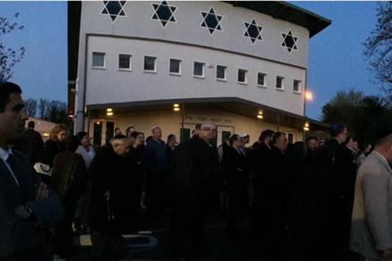 JRCI Yom HaShoah 5775 Commemoration at Dublin Hebrew Congregation. 16th April 2015